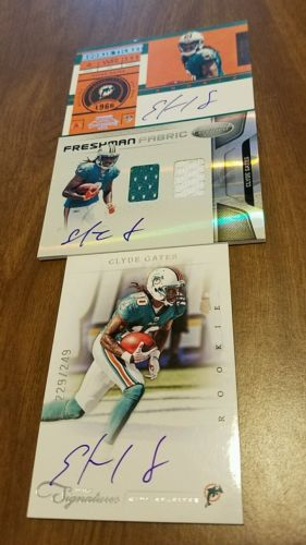 #NFL #Cards Panini Auto #Jersey RC Lot clyde gates Miami #Dolphins Contenders, #Certified Prime  http:// dlvr.it/N6YcWn  &nbsp;   #Football #Card<br>http://pic.twitter.com/xctE4It9Lr