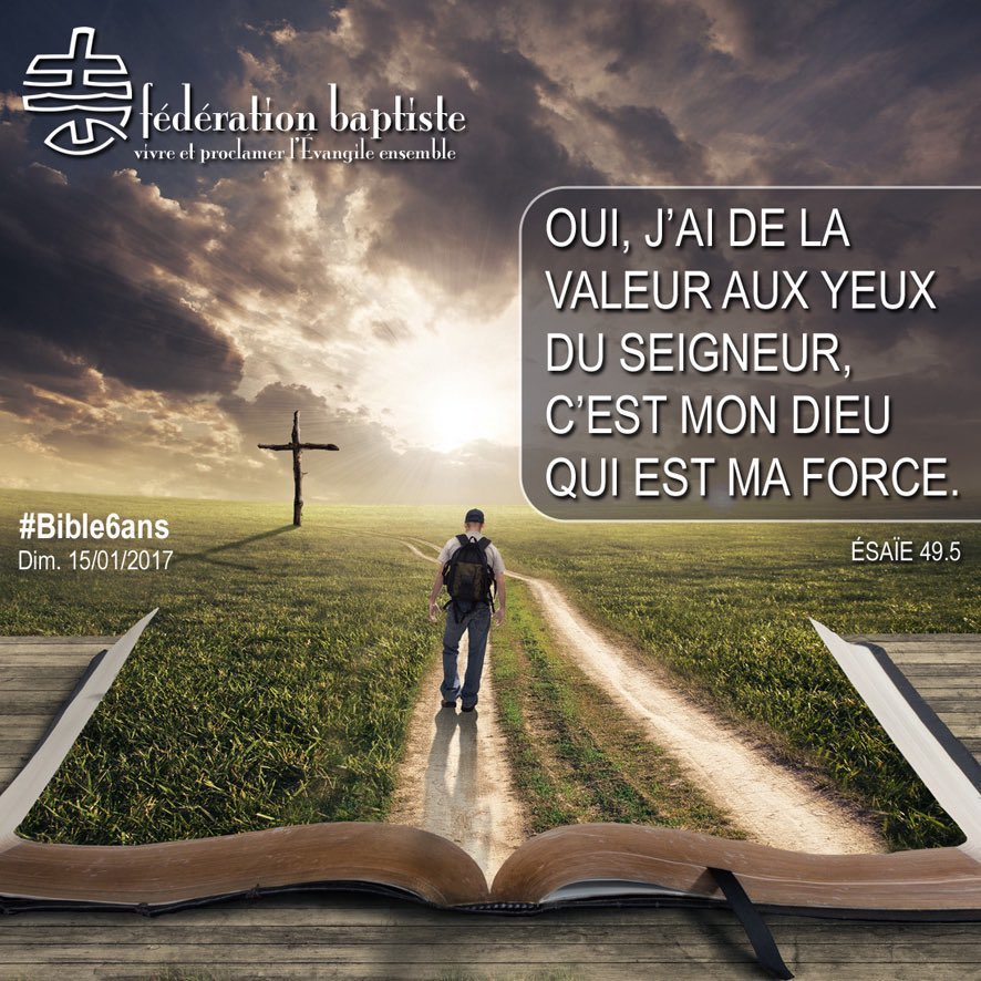 Dans les textes du jour, ce verset est une parole d&#39;encouragement pour nous tous. #bible6ans #force #valeur<br>http://pic.twitter.com/wdrj6EWL1J
