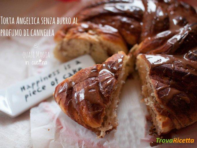Torta Angelica senza burro al profumo di cannella