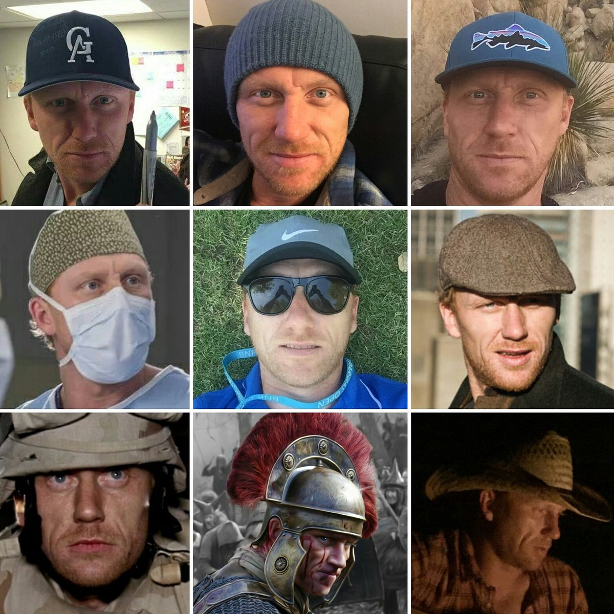 #NationalHatDay  Kevin wears LOTS of hats besides #actor #director  #baseball #beannie #tobbagan #scrubcap #tam #helmet #cowboy &amp; more  <br>http://pic.twitter.com/4knYepvtmT