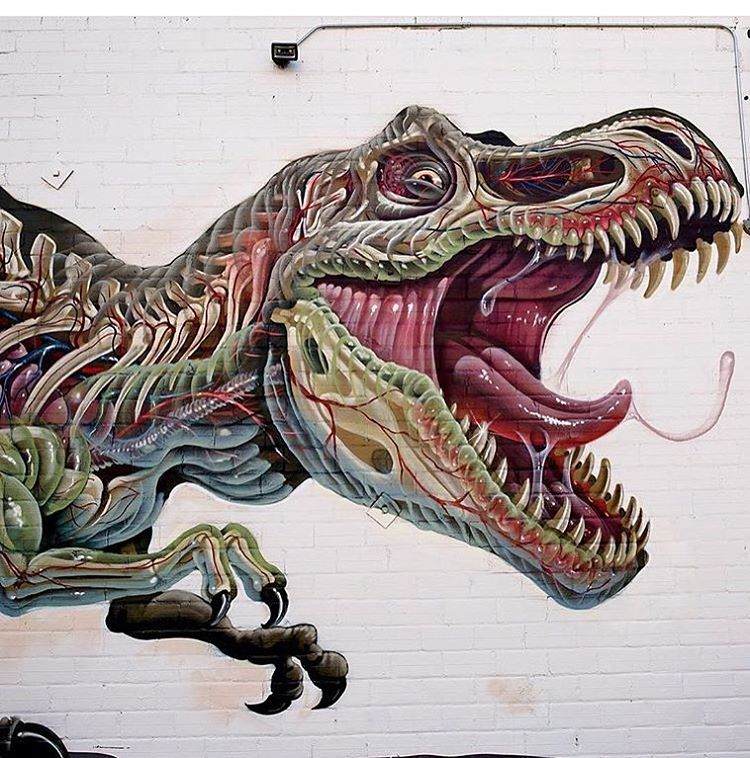 Nychos On Twitter Detail Of The Oakland Tyrannosaurus Rex Full