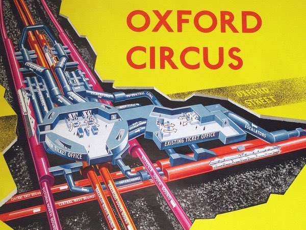 C2NA1 9XcAEYsrL - Construction of Oxford Circus station 1962-69