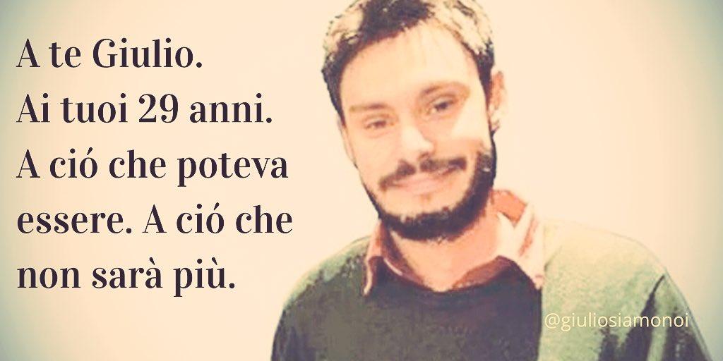 Buon compleanno Giulio. #Giulio29 #veritapergiulioregeni