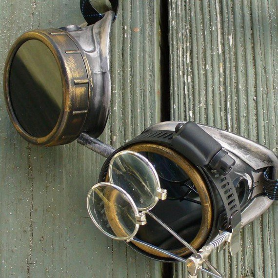 #steampunk https://t.co/IIhSP7liaF Steampunk Victorian Goggles Glasses AVIATOR Time Travel Crazy Scientist's Oculo…
