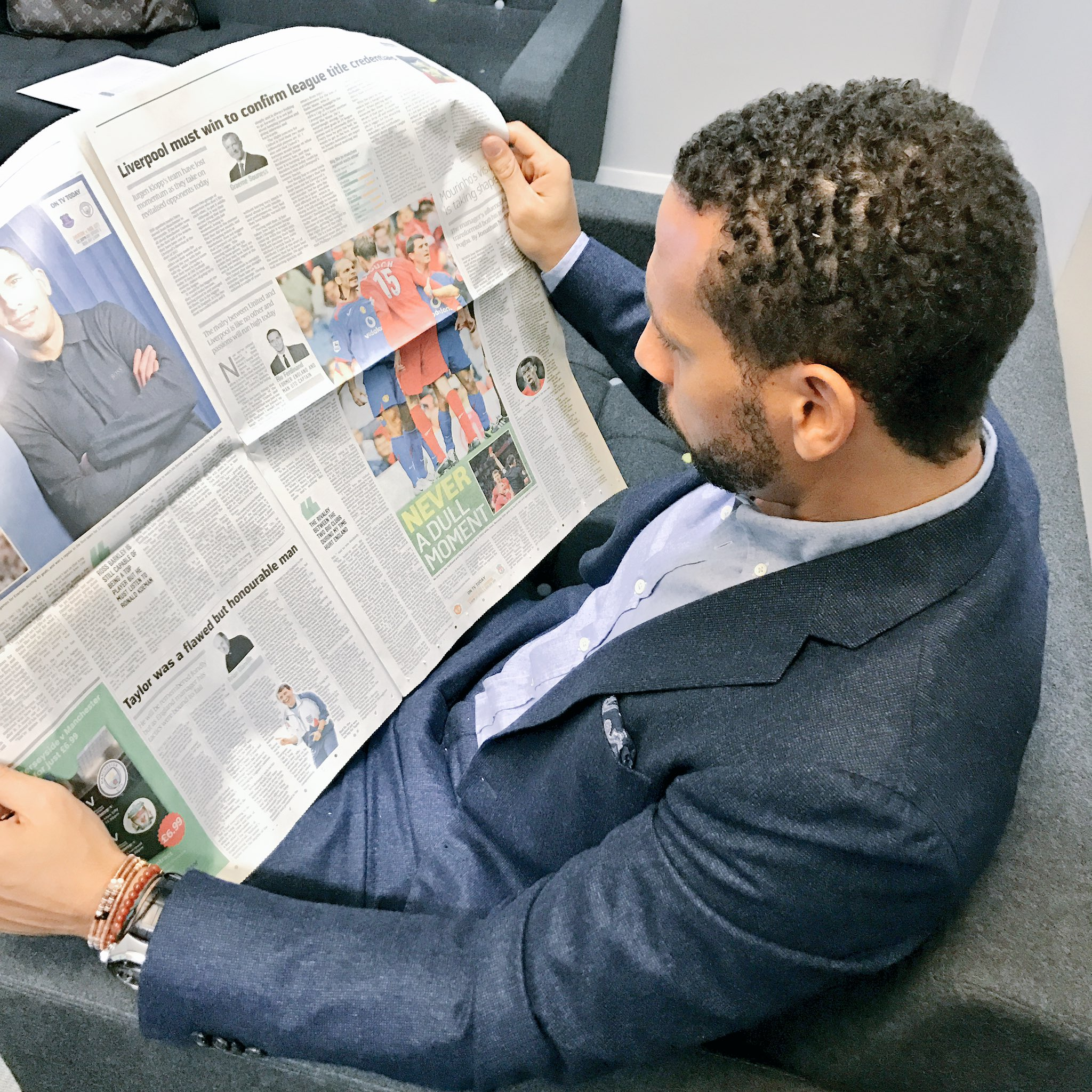 In the green room... reading my column today in @TimesSport ... the emotions/mentality... biggest game for the fans! https://t.co/s75JlFpEgF