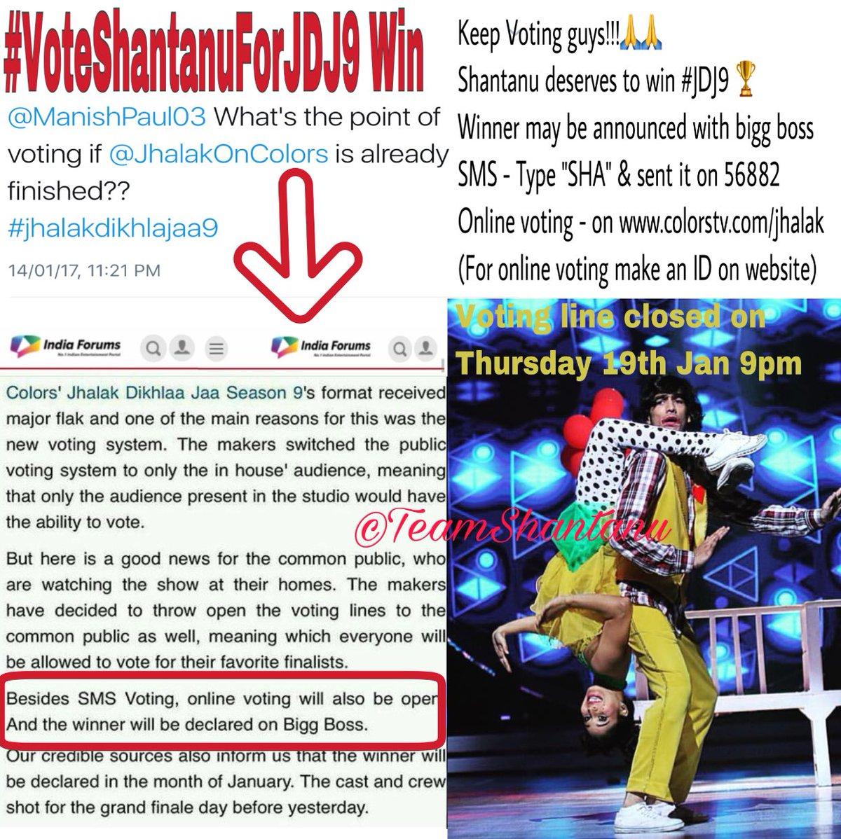 Colors website bigg boss 9 voting - Keep Voting 4 Shantanu As Jdj9finale Has Already Shot But Winner Will Be Announced Wid Bb10 By Indiaforums Jdj9pic Twitter Com Dsd4bp17ew