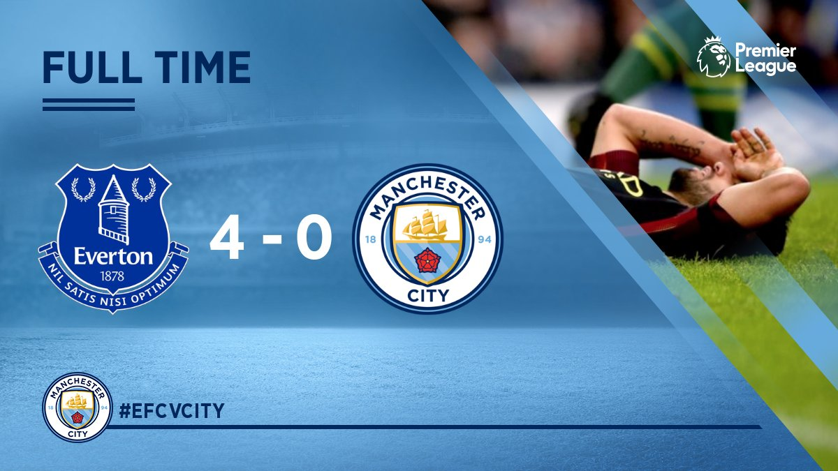 Everton 4 0 Manchester City Premier League As It Happened Football The Guardian
