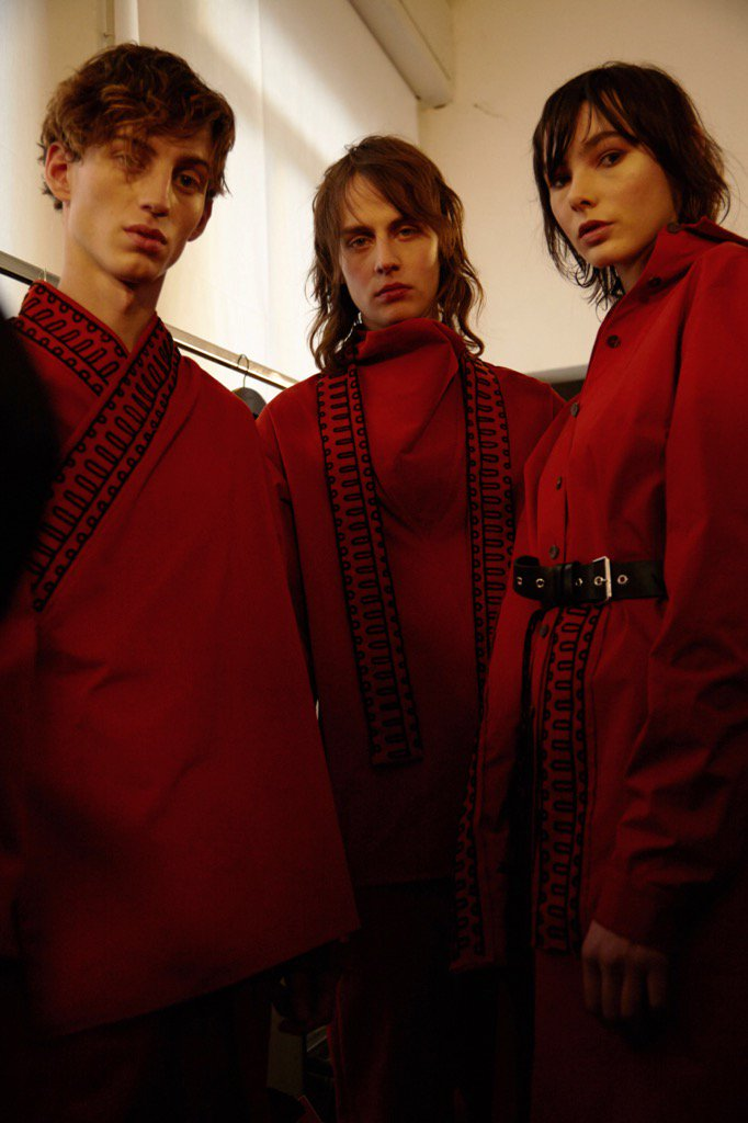 Backstage at Damir Doma Autumn - Winter 2017. https://t.co/6VL4jJi90i