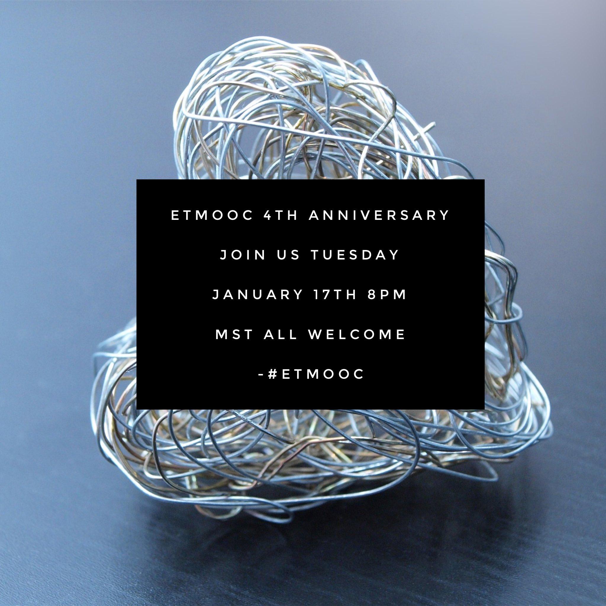Thumbnail for #etmooc 4th Anniversary Tweet Chat: The cMOOC That Still Won't Die!