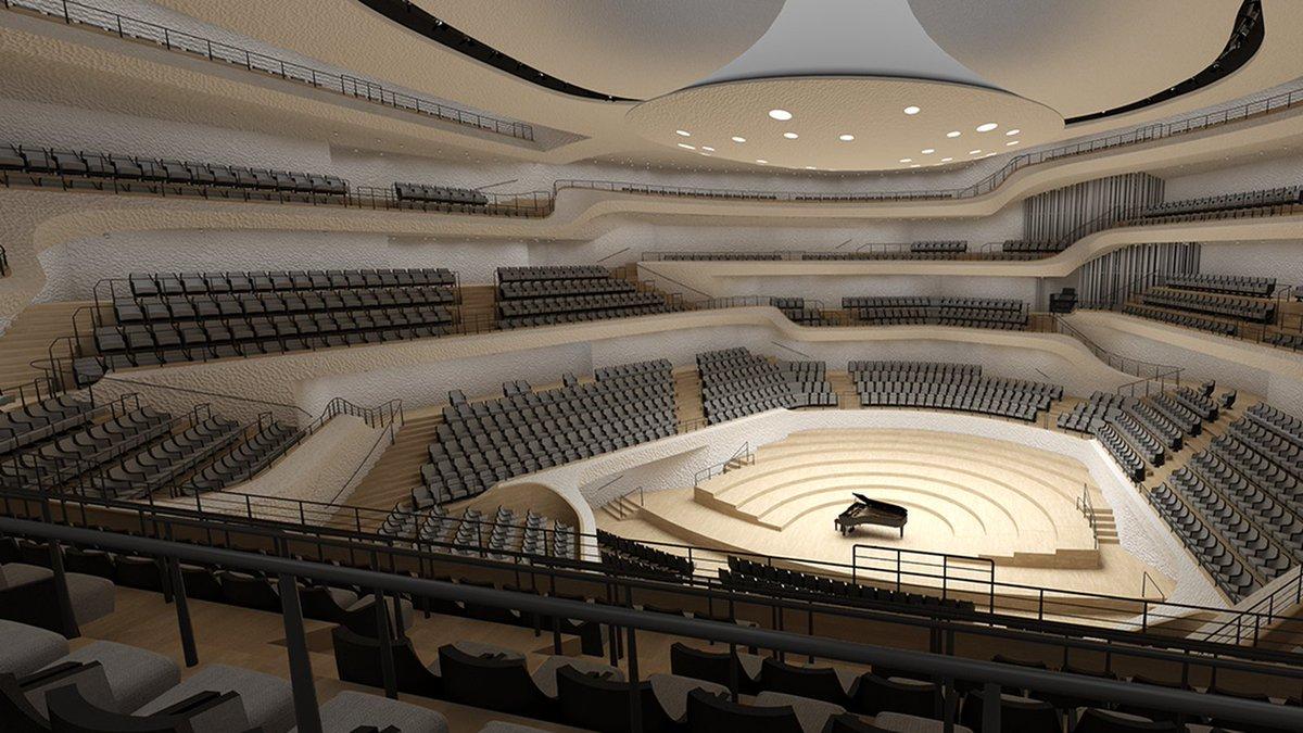 관객들에게 최상의 사운드를 들려주기 위한 노력이 함부르크 Elbphilharmonie의 아름다운 디자인으로 이렇게 결실을 맺었다...(Designed by Herzog and De Meuron)