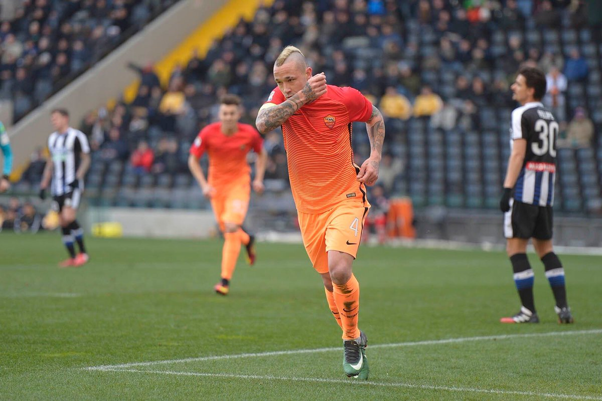 UDINESE ROMA Risultato 0-1, basta un gol di Nainggolan, -1 dalla Juve in classifica