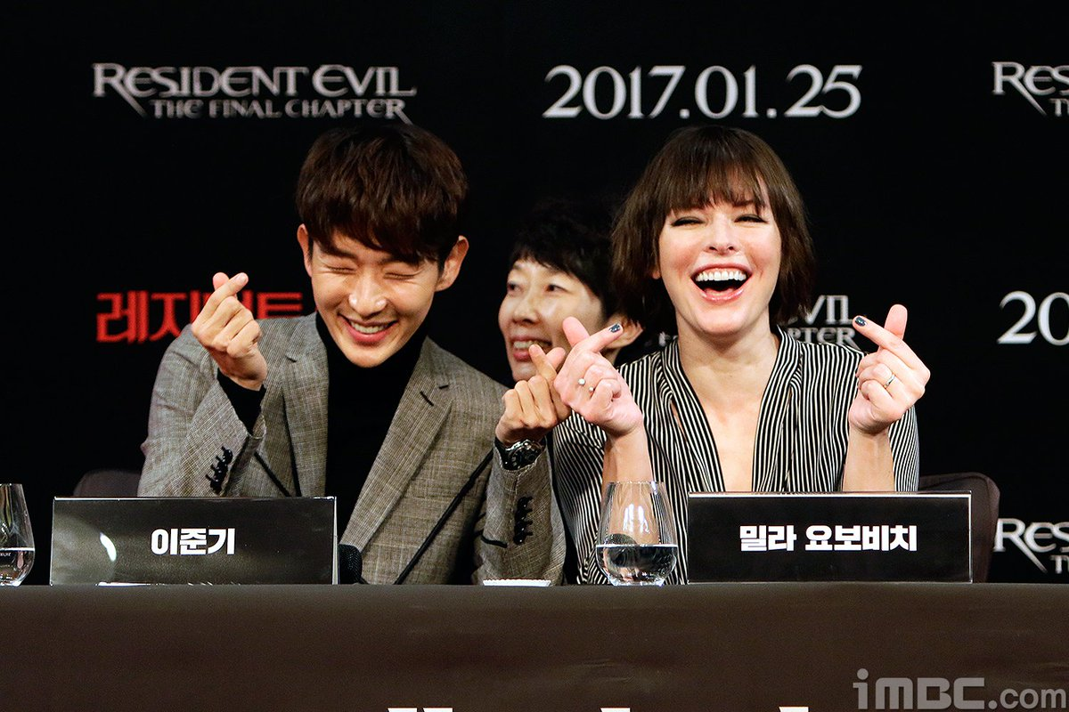 Hajunse Lee Jun Ki On Twitter 170113 Resident Evil The Final