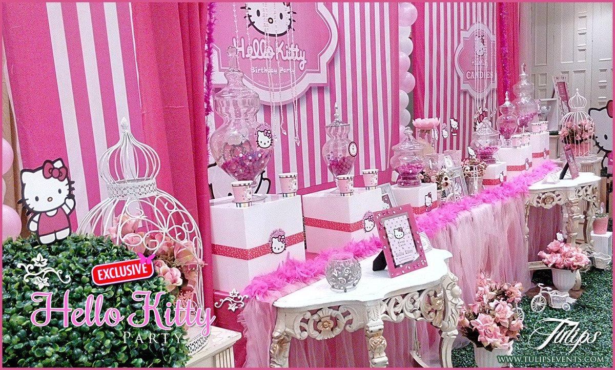 Usman Ali On Twitter Hello Kitty Theme Birthday Party Decoration