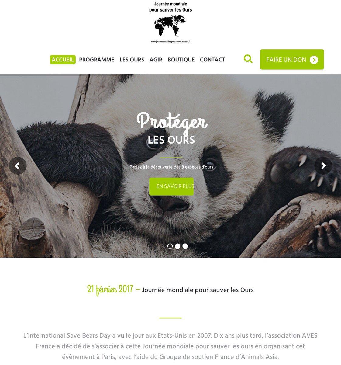 Animations, collecte, sensibilisation. On parlera des #ours le 18/02 à @Paris. Un #rt pour nous aider @lolobababa ?  http://www. journeemondialepoursauverlesours.fr  &nbsp;  <br>http://pic.twitter.com/oN4NFqyVOk