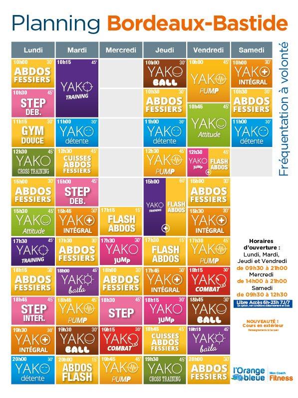 #nouveauplanning #sport #fitness #orangebleue #Bordeaux Voici le nouveau planning disponible dès demain !!!<br>http://pic.twitter.com/00yNmRMUJt