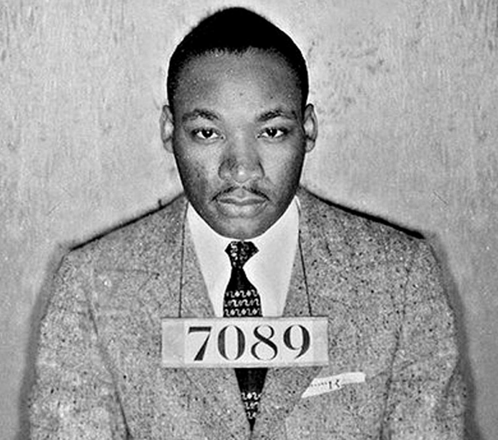 martin luther king jr after arrest in montgomery bus
