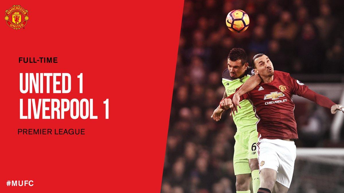 أهداف مباراة مانشستر يونايتد وليفربول 1-1