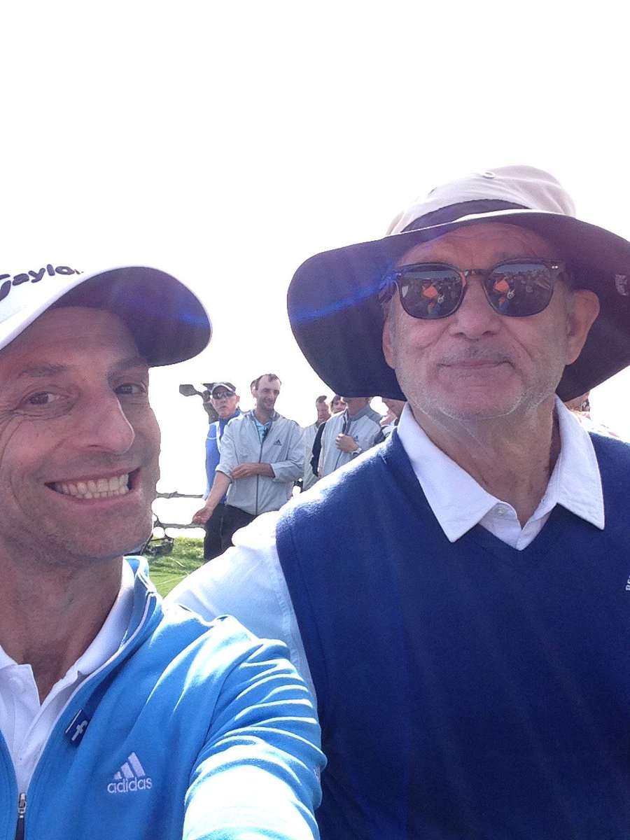 Just a casual #SelfieSunday at the @attproam golf tournament with my m...