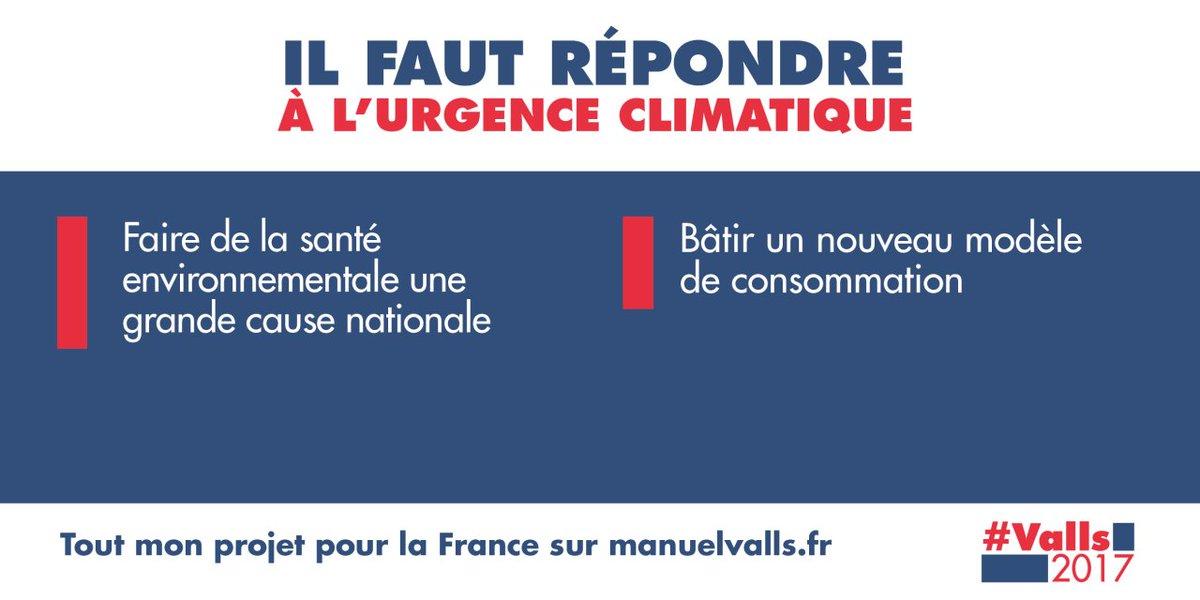 L&#39;urgence climatique nous oblige à des changements et à des sauts technologiques majeurs #climat #environnement #PrimaireLeDebat #Valls2017<br>http://pic.twitter.com/CaFoIuSumA