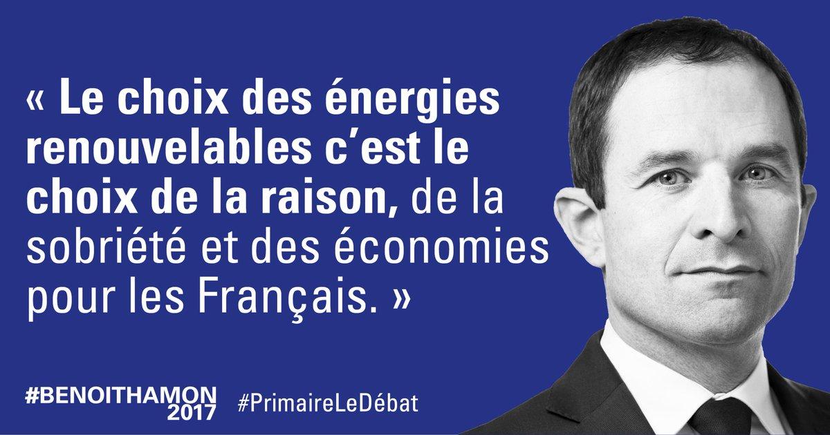 #PrimaireLeDebat Les énergies renouvelables créent beaucoup plus d&#39;emplois que le nucléaire. Mon objectif : 50 % de renouvelables en 2025. <br>http://pic.twitter.com/WdDgRnoSHJ