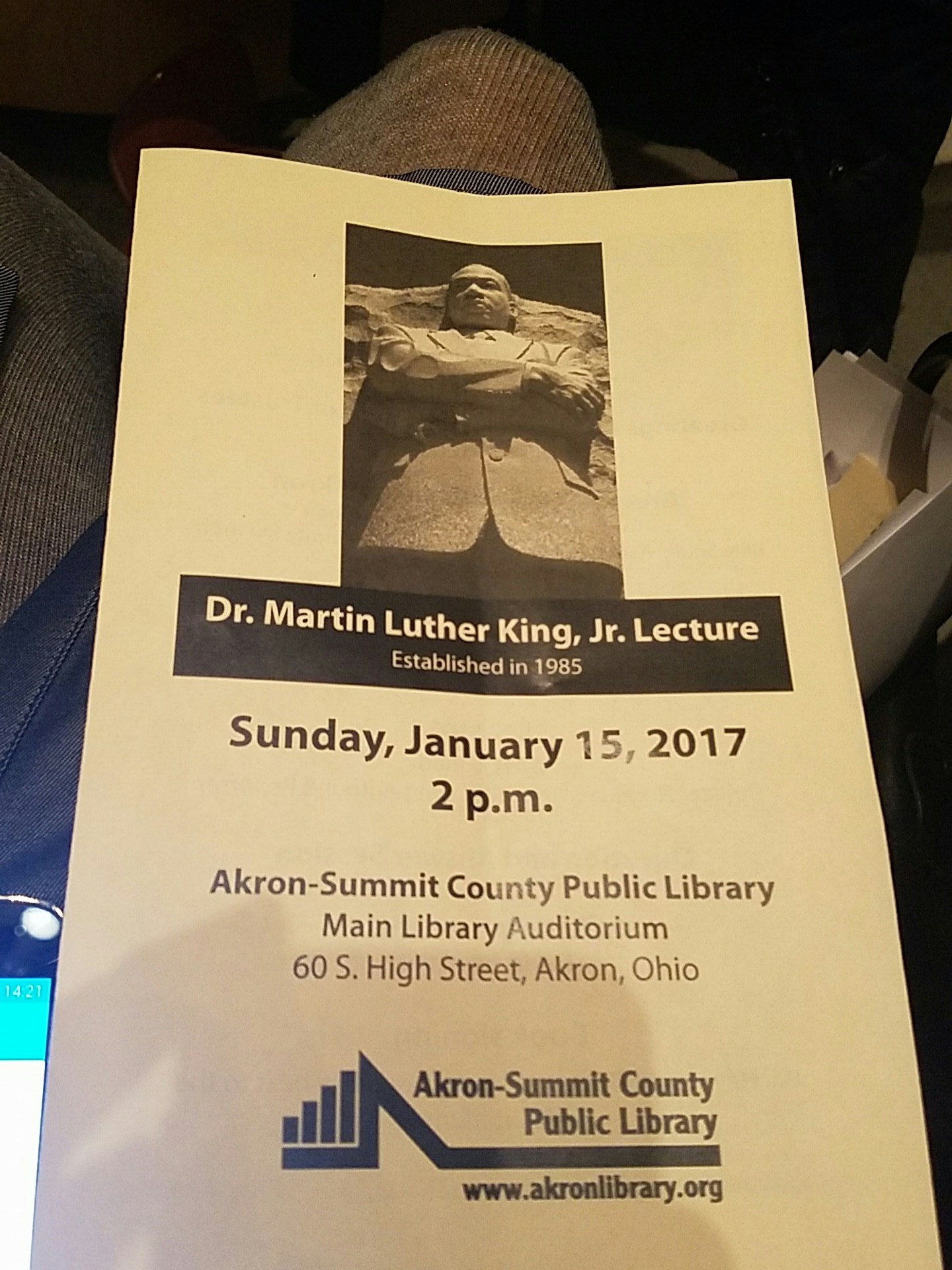 In celebration of Martin Luther King Jr. Welcome to Akron Wil Haygood. https://t.co/dXf3Vi5r9i