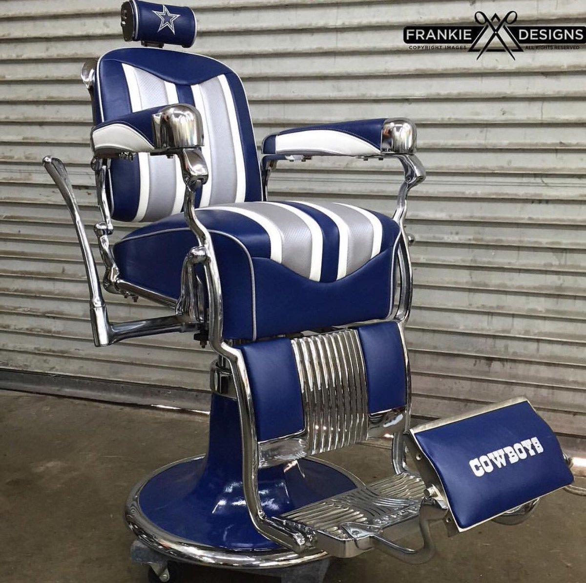Barber Association On Twitter Custom Dallascowboys Nfl Football Chair By Frankiedesigns