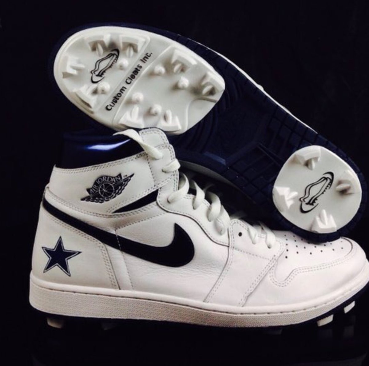 Air Jordan Dez Bryant Custom Air Jordan Cleats Athlete