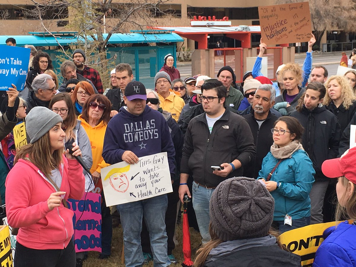 100s of people rallied in #ABQ to say #SaveACA. I'm fighting to #KeepNMCovered. https://t.co/0Jv524d6US