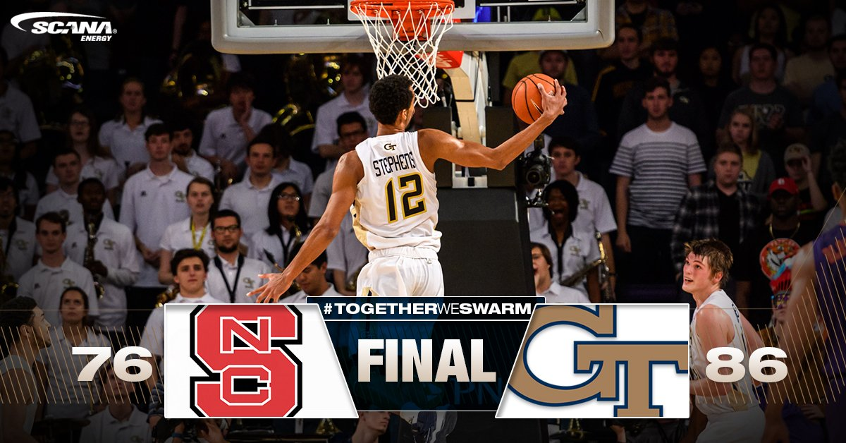 JACKETS WIN ON THE ROAD! #GaTech defeats NC State 86-76 in Raleigh for THIRD ACC VICTORY! #TogetherWeSwarm https://t.co/q3ZsLFYEif