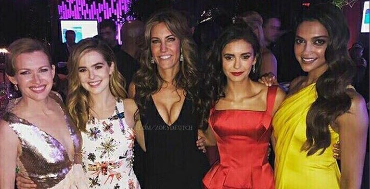 [Unseen PIC] From InStyle's #GoldenGlobes2017 party. Deepika and Nina...