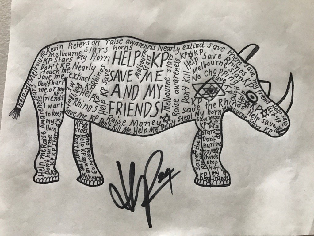 RT @KP24: Little kid just asked me to sign this. How brilliant is this pic?! #SaveOurRhinos🦏 https://t.co/QT8wrZQPFG