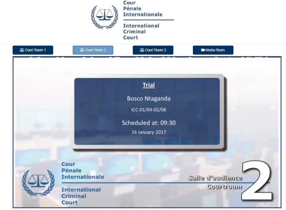 Aujourd'hui #CPI: Reprise procès #Ntaganda Retransmission à 10h Today #ICC: #Ntaganda trial resumes. Watch at 10:00  http:// player.cdn.tv1.eu/statics/66005/ icc.html &nbsp; … <br>http://pic.twitter.com/Nd3b0JFIBX