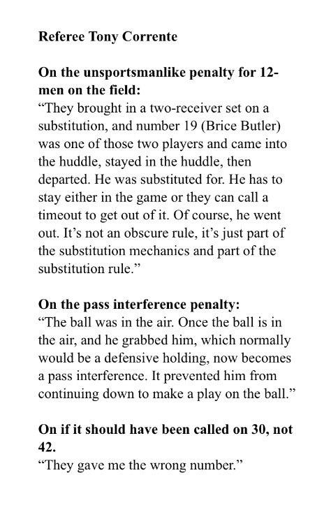 #Cowboys #packers ref tony corrente comments, blah blah blah @1053thefan<br>http://pic.twitter.com/1KXCH8G7B8