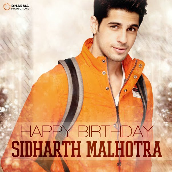 We wish Sidharth Malhotra A VERY HAPPY BIRTHDAY