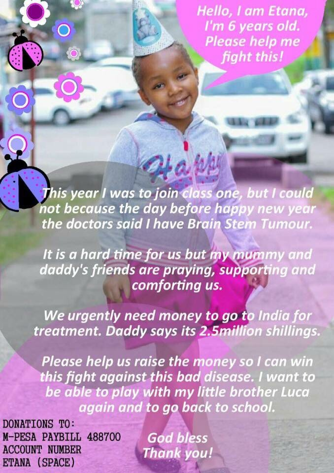 This little girl needs help. It could be on your TL. Even that RT helps https://t.co/BOZkOdnvXr