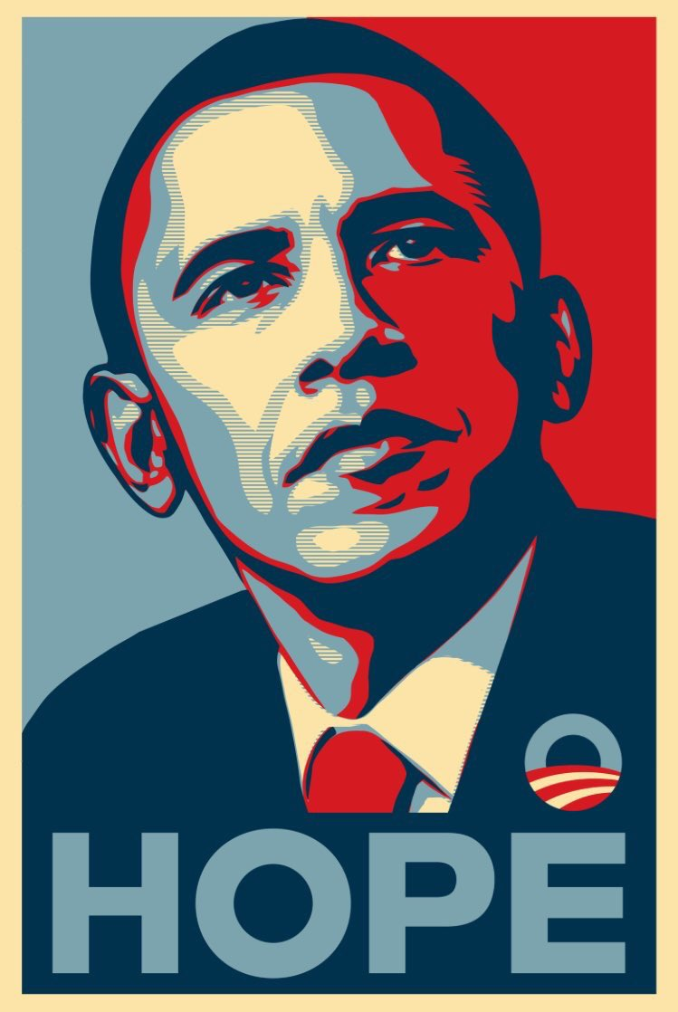 The artist who created &quot;Hope&quot; in 2008, Shepherd Fairey, creates #WeThePeople series for #Trump era. #TrumpInaugural<br>http://pic.twitter.com/NjwOIZNX8e