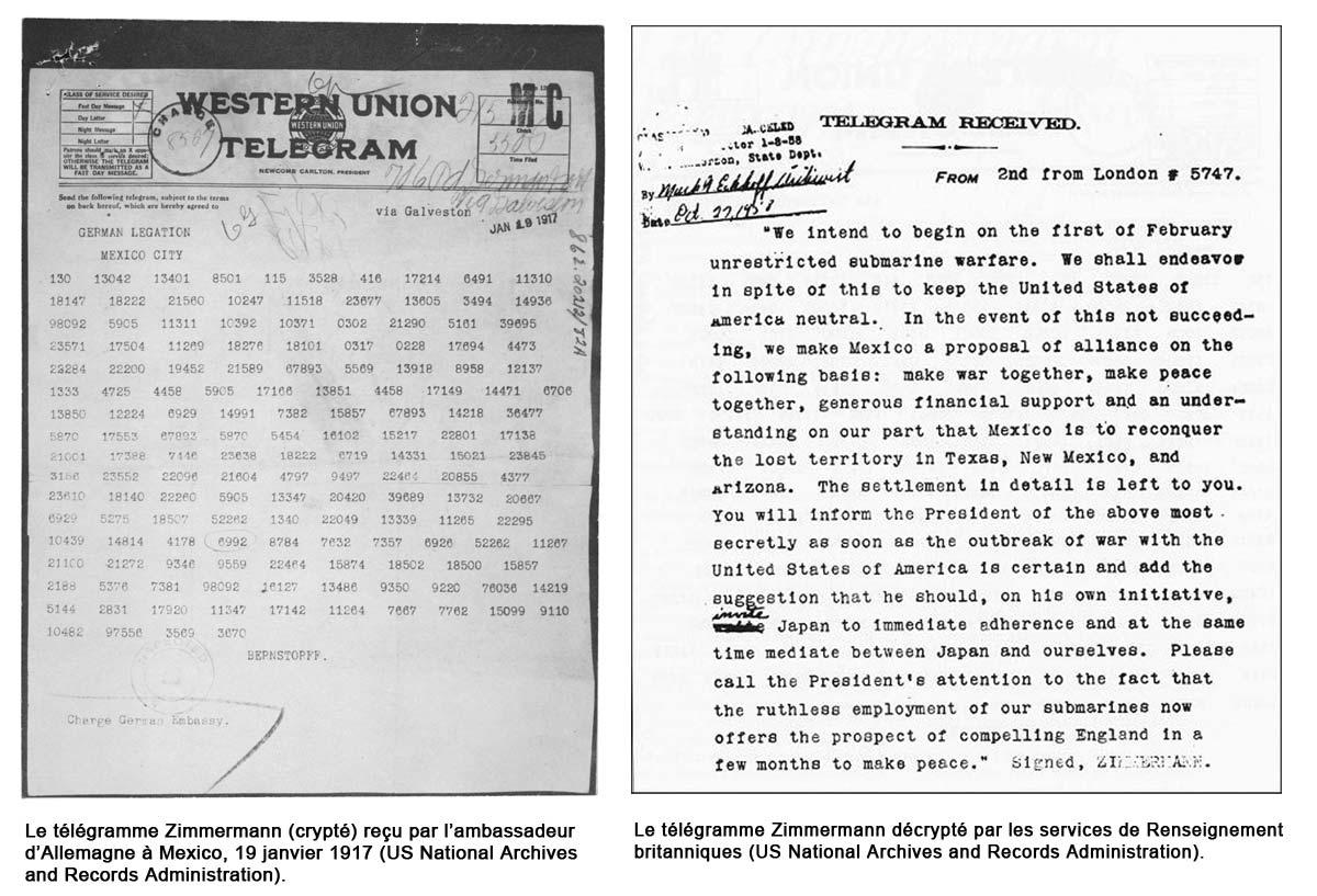 Il y a 100 ans : envoi du télégramme Zimmermann. Intercepté, il scelle l&#39;entrée en guerre des #EtatsUnis  http:// tinyurl.com/hqvwva4  &nbsp;   #1GM #WW1<br>http://pic.twitter.com/p7aSGMo6Ih