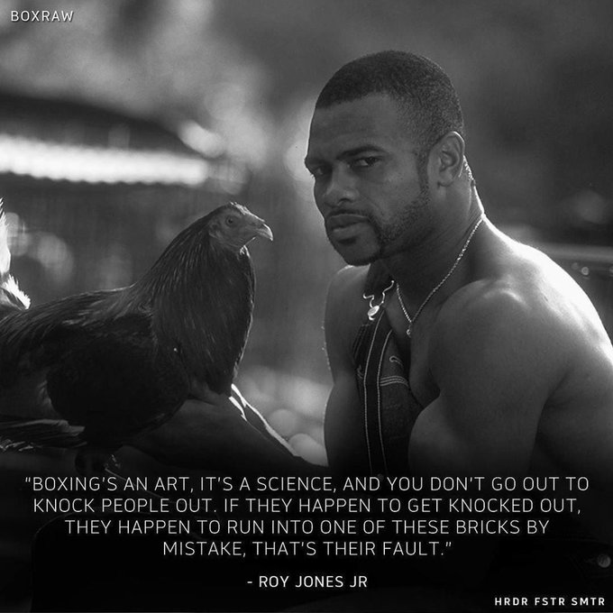 """Happy Birthday Roy Jones Jr! \""""You can ask all of the other fighters in this industry Who w"""