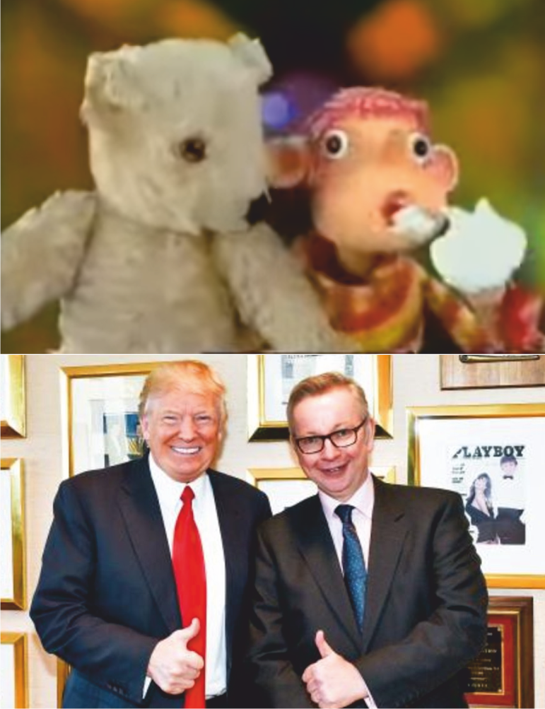 World Exclusive! @michaelgove and @realDonaldTrump team up to make live action version of Pob! and Teddy