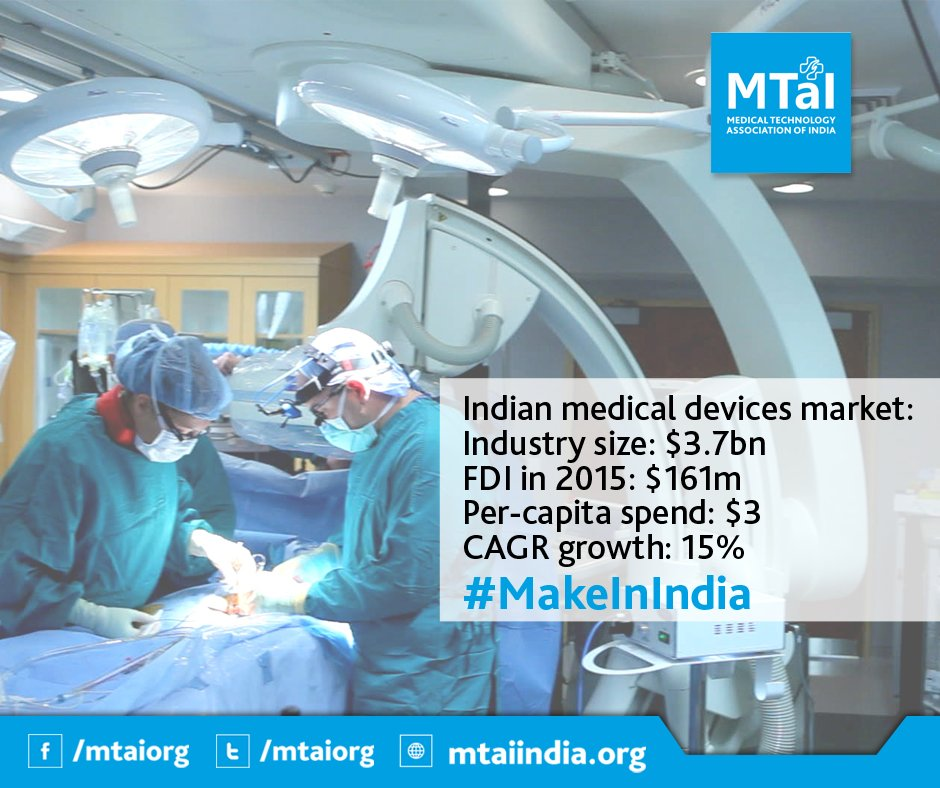 #MedicalDevice industry is all set to unleash its true potential. All it seeks is the right environment! #MedTech #MakeInIndia @mtaiorg<br>http://pic.twitter.com/1WiVhEadZm
