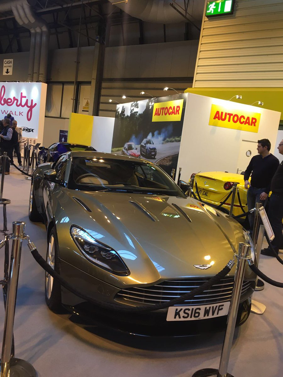 Who saw the new Aston Martin #DB11 on display at #ASI17 over the weekend?
