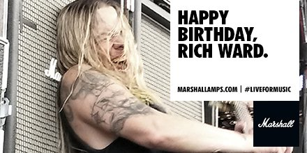 Happy Birthday to Fozzy guitarist and Marshall artist Rich Ward