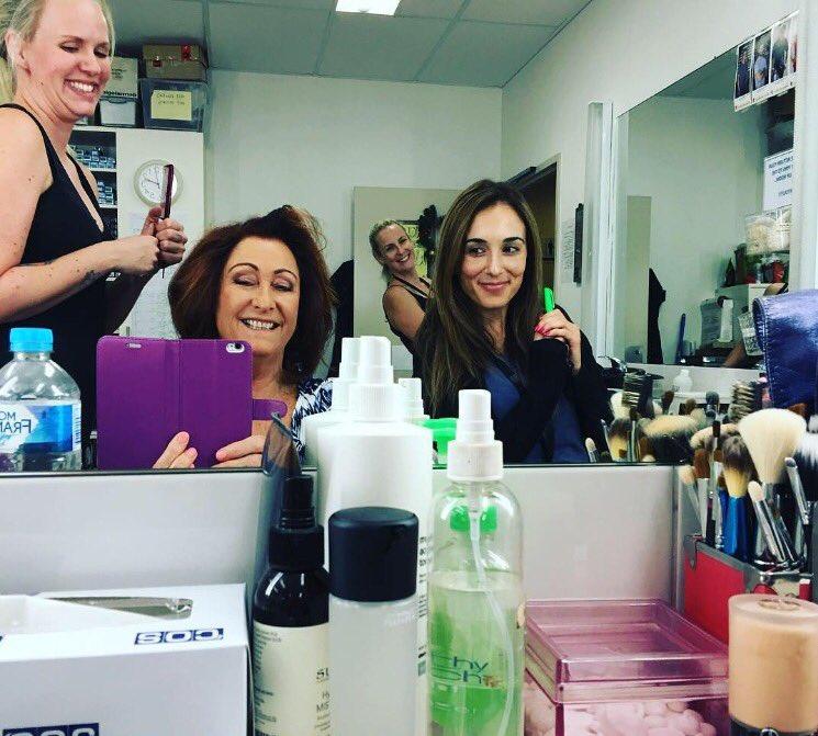 First day back at work with the lovely @LynneMcGranger  #HomeandAway #MakeupDepartment #HairandMakeupTeam <br>http://pic.twitter.com/Vdl4UPEI8x
