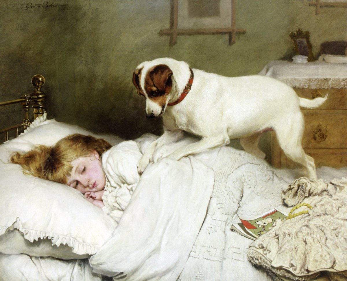 Time to wake up Charles Burton Barber, 1883 Good Monday #Doglovers   #mondaymotivation <br>http://pic.twitter.com/W0rUXqcVaE