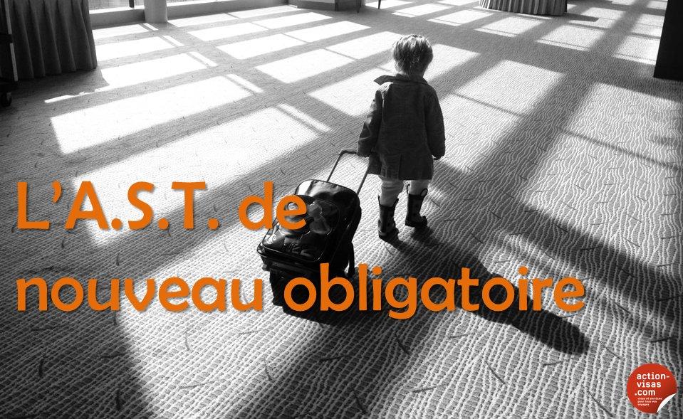#FORMALITÉS L'Autorisation de Sortie de Territoire (re)devient obligatoire pour les mineurs  https://www. facebook.com/notes/action-v isas/lautorisation-de-sortie-de-territoire-est-de-nouveau-obligatoire-pour-les-mineur/1267516876620097 &nbsp; …  #visa #tourisme #voyage<br>http://pic.twitter.com/r04fkypnYj