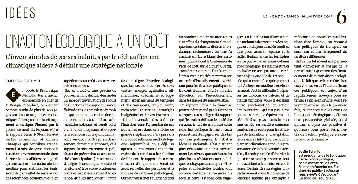 L&#39;inaction #écologique a 1 coût, à quand 1 rapport #STERN à la française ?  http:// bit.ly/2iZsDM8  &nbsp;   #ClimateAction #transition #climat #ISR<br>http://pic.twitter.com/5MG4I68zMU