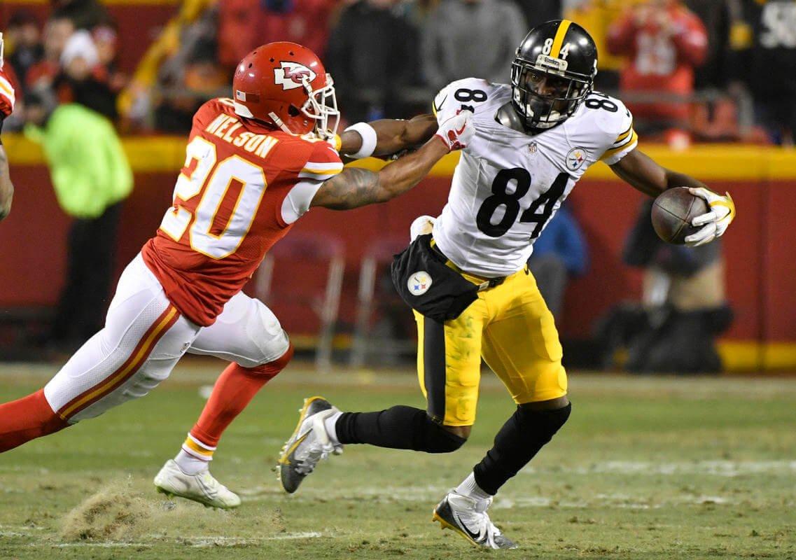 Steelers' Antonio Brown rolls live locker room video after win NFLplayoffs