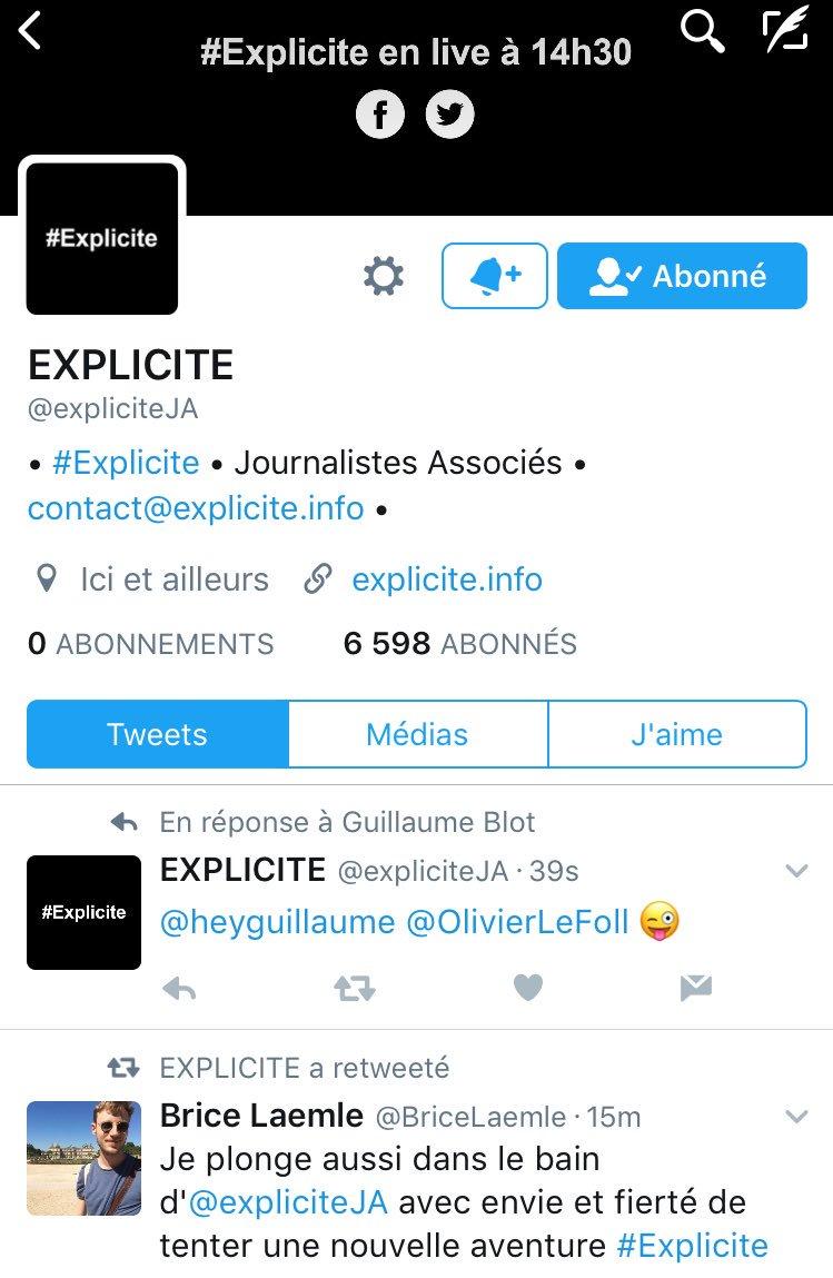 #journalism #explicite @expliciteJA !!! Nouvelle aventure journalistique <br>http://pic.twitter.com/TzFqRUqIIT