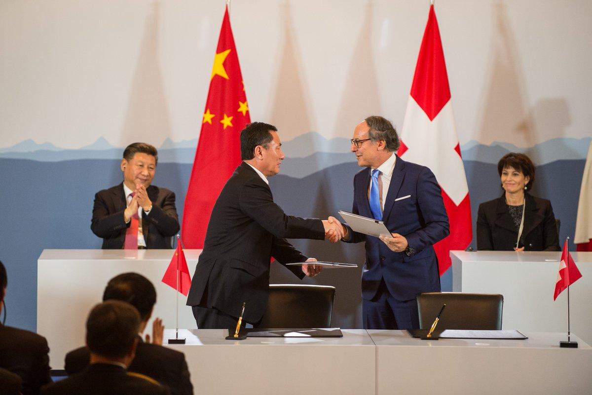 Nouveau master sur les Objectifs du développement durable signé lors de la visite du Président chinois en Suisse #Leuthard #Chine #XiVisit<br>http://pic.twitter.com/JwlY6dP0MW