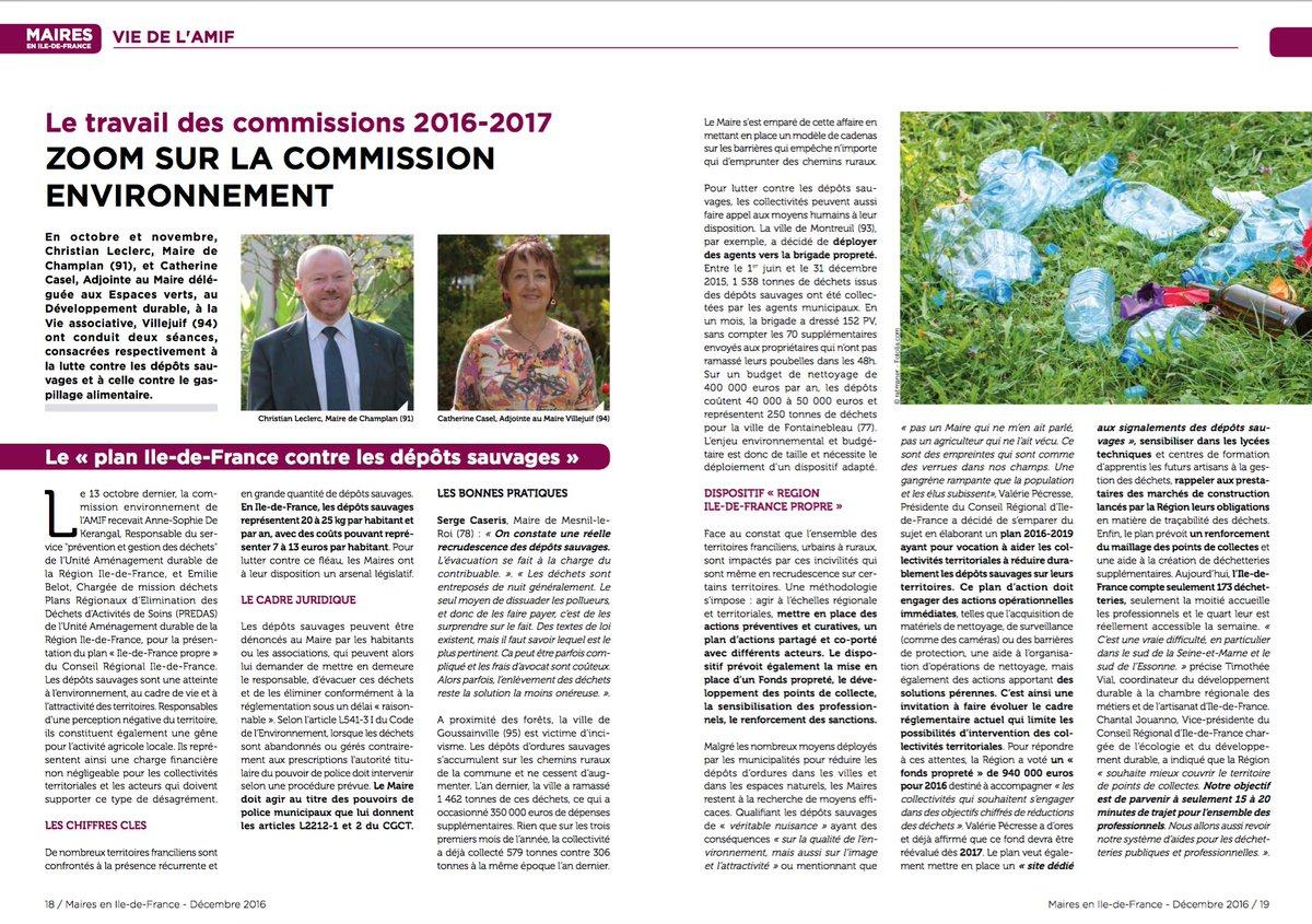La lutte contre les #DépôtsSauvages et celle contre le #GaspillagAlimentaire étaient au coeur du travail de la Commission #Environnement <br>http://pic.twitter.com/Fx4SSJ6psD
